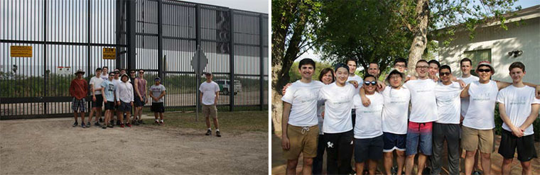 LEFT: Vancouver College students pose for a