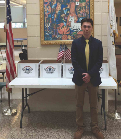 Hendricken student Damon Castigliego