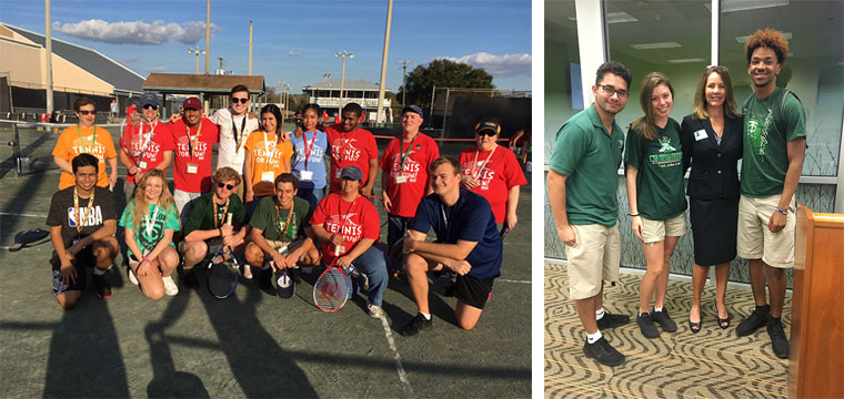 LEFT: Tennis for Fun | RIGHT: Tampa Catholic