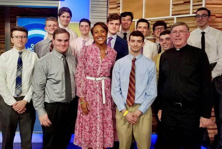 Robin Roberts, anchor of ABC's 'Good Morning America,' and Brother Paul Hannon with Farrell TV