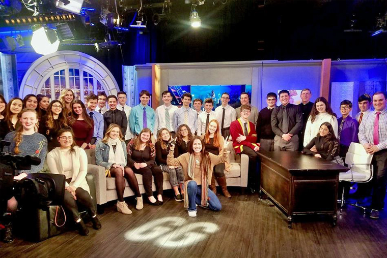 Monsignor Farrell TV Students and St. Joseph Hill TV Students at the Greg Gutfeld Show.