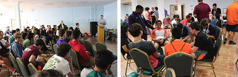 LEFT: ERCBNA Advocacy Coordinator Sean D'Alfonso